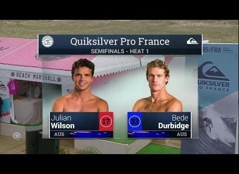 サーフムービー:2015 Quik Pro France: SF, H1 Recap