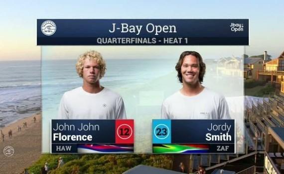 ムービー:2016 J-Bay Open: ジョンジョンフローレンス VS ジョディースミス(クォーターファイナル)