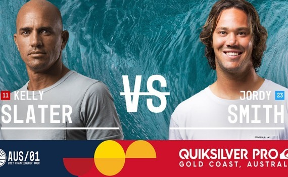 Kelly Slater vs. Jordy Smith – Quiksilver Pro Gold Coast 2017