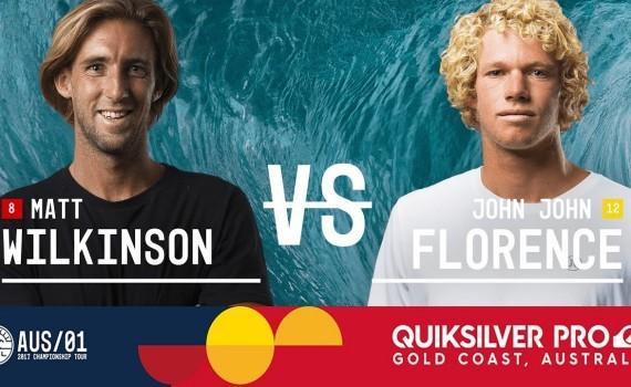 Matt Wilkinson vs. John John Florence – Quiksilver Pro Gold Coast 2017 Semifinals