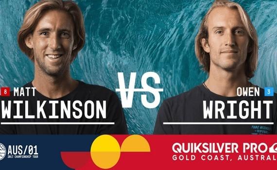 ファイナルヒート:マットウィルキンソン vs オーウェンライト CTツアー – Quiksilver Pro Gold Coast 2017