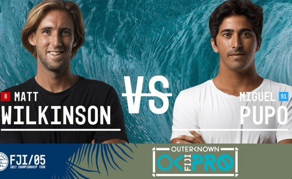 WSL CTツアー フィジー Matt Wilkinson vs. Miguel Pupo