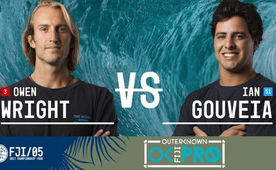 WSL CTツアー フィジー Owen Wright vs. Ian Gouveia